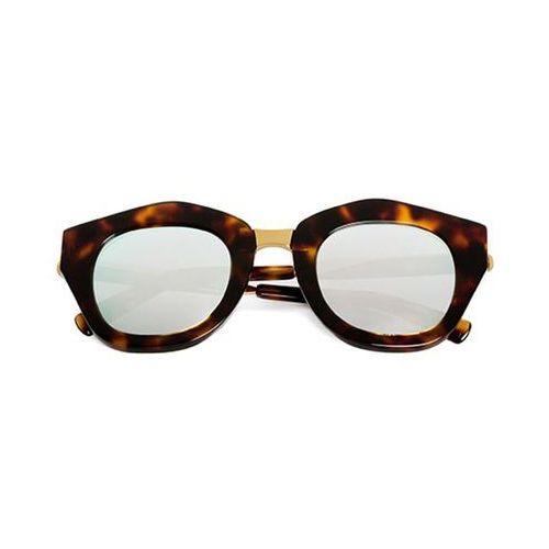 Okulary słoneczne mon amour ma02c/havana light/gold/gold (silver mirror) marki Spektre