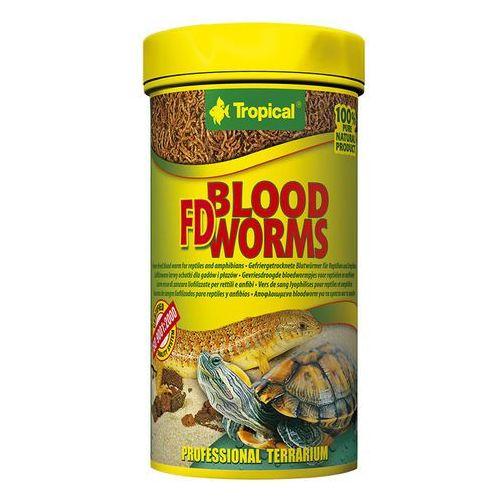 Tropical  fd blood worms - liofilizowane larwy ochotki dla gadów i płazów 100ml/7g