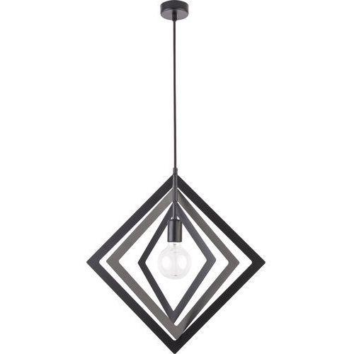 TRIK romb czarny 1 zwis M - żyrandol/lampa wisząca, kolor Czarny