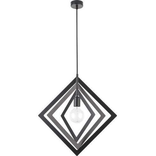 TRIK romb czarny 1 zwis M - żyrandol/lampa wisząca