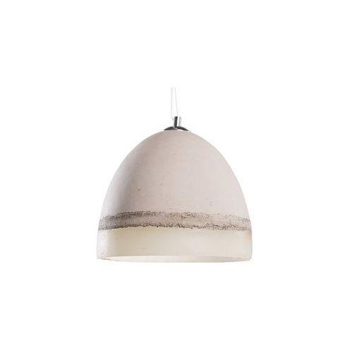 Lampa szaro-biała - sufitowa - żyrandol - lampa wisząca - cahaba marki Beliani