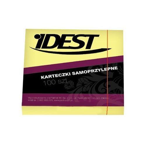 Bloczek samoprzylepny Idest, 76 x 76 mm, 100 kartek, żółty - Autoryzowana dystrybucja - Szybka dostawa - Tel.(34)366-72-72 - sklep@solokolos.pl, NOTSID-0001