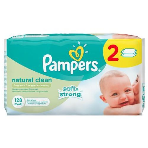 Pampers chusteczki natural clean 2 x 64 szt.