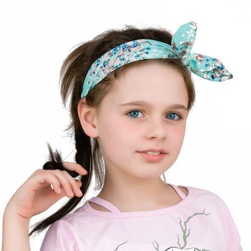 Cloe Opaska do włosów funny na gumce kokarda miętowa - mint