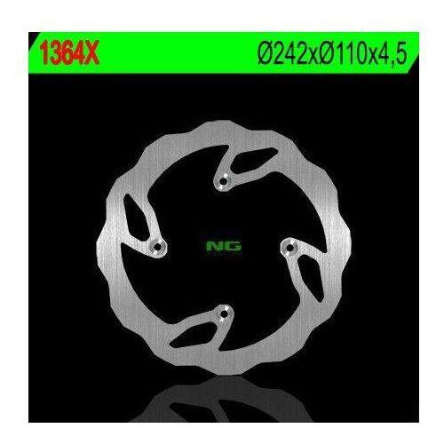1364x tarcza hamulcowa tm 125/250/300/450/530 '06-'09 (242x110x4,5) (4x7mm) marki Ng