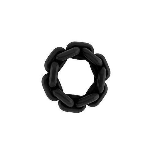 Gruby pierścień erekcji w kształcie łańcucha Sono Cockring No. 6 SONO06BLK