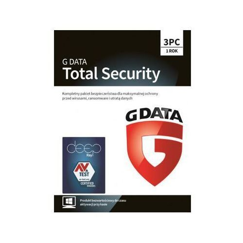 GDATA TOTAL SECURITY 3 PC 1 ROK (5901466005552)