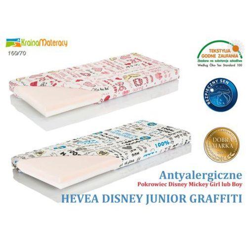 Materac wysokoelastyczny  disney junior graffiti 160x70 + poduszka 45x45 gratis!! marki Hevea
