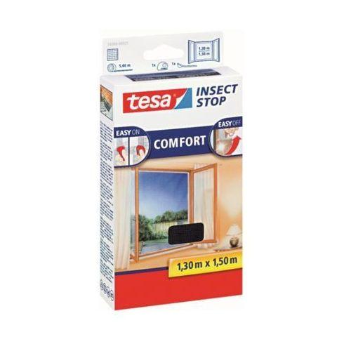 Moskitiera na okno Tesa InsectStop Comfort, 130 x 150 cm,antracyt