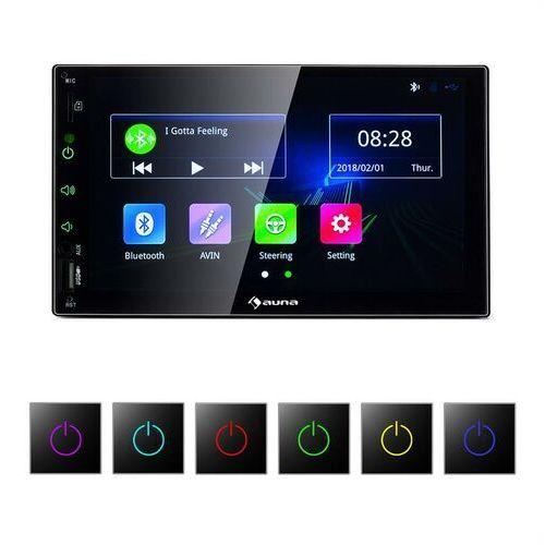 Mvd-400 radio samochodowe 7-calowy ekran dotykowy 4x45w bt android auto usb 2 din czarne marki Auna
