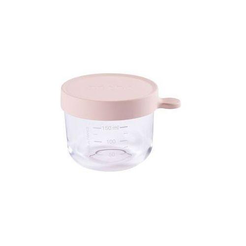 Pojemnik s�oiczek szklany z hermetycznym zamkni�ciem 150 ml Beaba (pink)