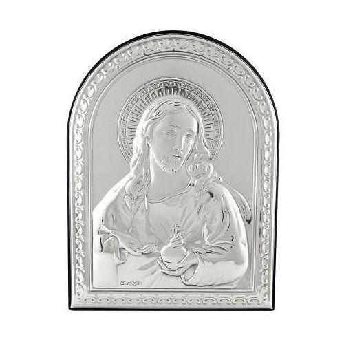 Obrazek srebrny z wizerunkiem jezusa - 1 - 6 x 7,5 cm marki Valenti
