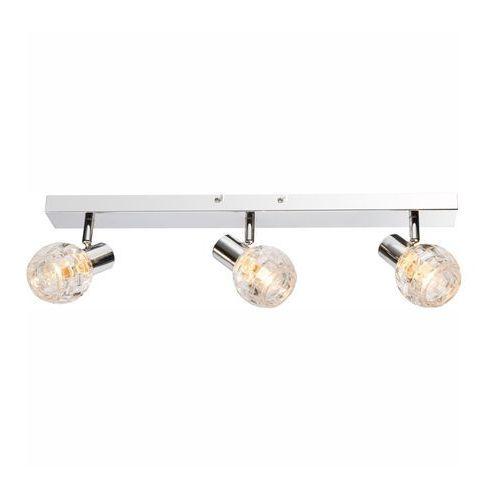 Globo Listwa lampa oprawa sufitowa keith i 3x40w e14 chrom/przezroczysty 541007-3