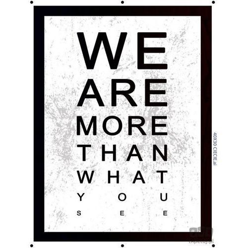 Obraz we are more than what you see pt163t2 marki Consalnet