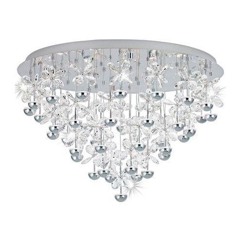 Eglo Plafon pianopoli 39246 lampa kryształowa oprawa sufitowa 43x1,8w led chrom/kryształ