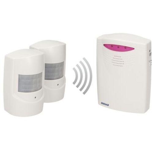 Alarm czujnik ruchu x 2 z sygnalizacją bezprzewodową Orno IP44,120m OR-MA-710, OR-MA-710