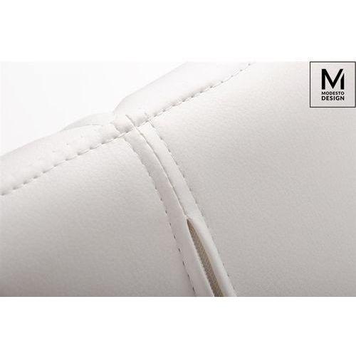 MODESTO krzesło KLIPP białe - ekoskóra, podstawa bukowa (5900168801653)