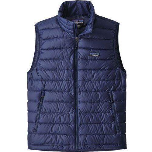 Patagonia Down Sweater Kamizelka Mężczyźni niebieski L 2019 Bezrękawniki puchowe (0191743019104)