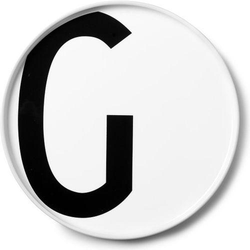 Design letters Talerz porcelanowy aj litera g