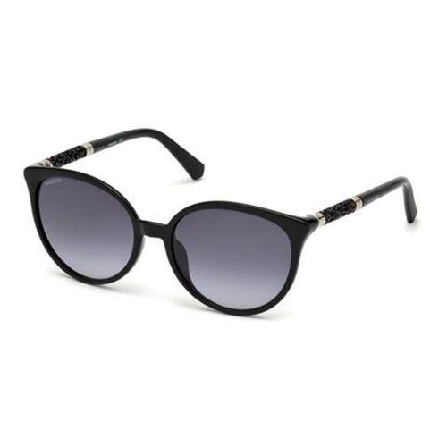 Okulary Słoneczne Swarovski SK0149-H 01B, kolor żółty