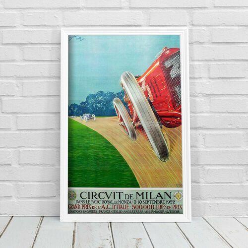 Plakat na ścianę Plakat na ścianę Grand Prix Circvit de Milan Grand Prixde L'A.C d'Italie