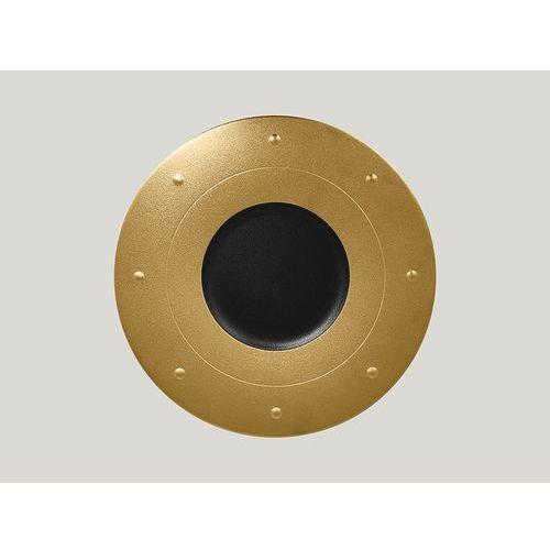 Talerz płaski zdobiony 310 mm, złoty | , metalfusion marki Rak