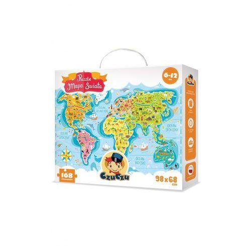 Mapa świata, puzzle (168 elementów)6-12 lat marki Czuczu