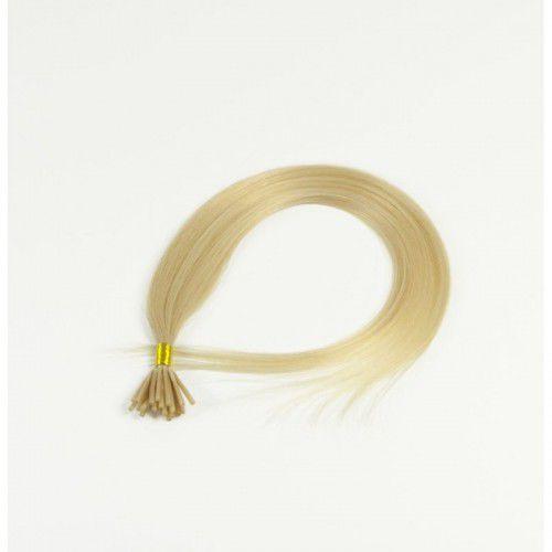 Longhair Włosy na ringi - kolor: #60 - 20 pasm bardzo jasny platynowy blond