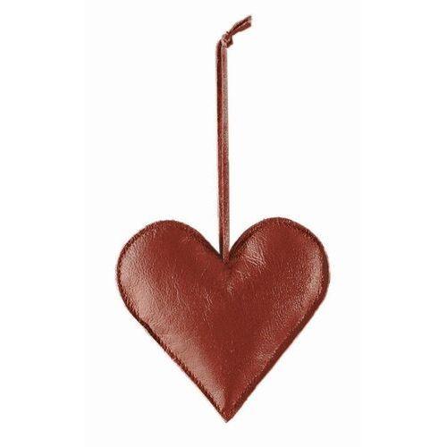 Philippi - ozdoba choinkowa ze skóry - serce - czerwone