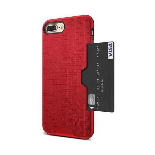 E-webmarket Etui 360 pro z miejscem na kartę kredytową dla iphone 7 plus - czerwone - czerwony \ iphone 7 plus