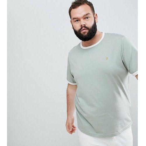 plus groves slim fit ringer t-shirt in light green - green marki Farah