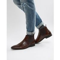 Dune Chelsea Boots In Brown Leather - Brown