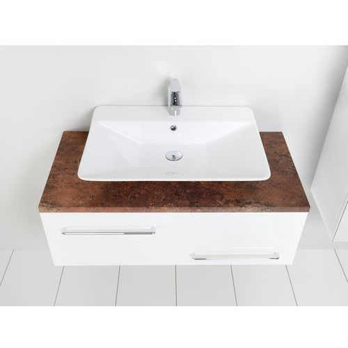 susanne szafka z umywalką mia biała/blat szary 95x46cm as-140/95-ws+as-b/1-140/95-74+ucs-tc-60, marki Antado