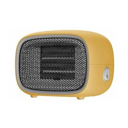 Baseus Warm Little White Fan | Termowentylator farelka mini grzejnik Moc 500W | biały - Żółty