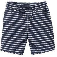 Długie szorty plażowe w paski bonprix ciemnoniebieski w paski, kolor niebieski
