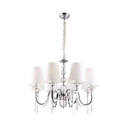 MAXlight Charlotte P0109 Lampa oprawa wisząca zwis 6x40W E14 chrom, kolor Srebrny