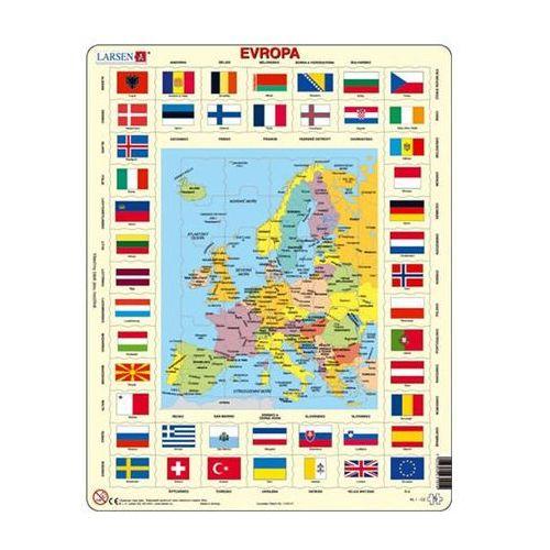 Puzzle MAXI - Mapa Evropy + vlajky/70 dílků neuveden