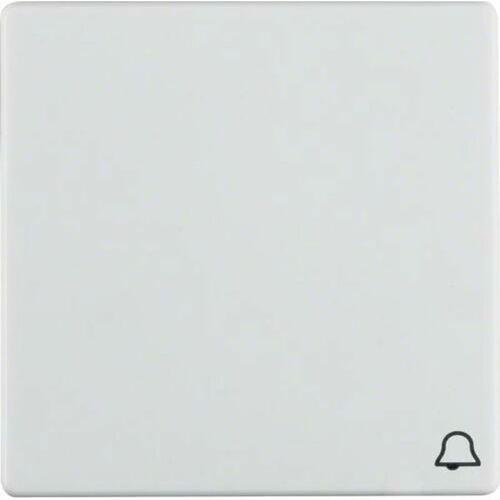 """q.1 klawisz z nadrukiem symbolu """"dzwonek"""" do łącznika 1-klawiszowego, biały, aksamit 16206059 marki Berker"""