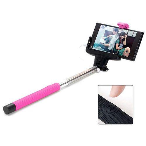 4kom.pl Różowy uniwersalny uchwyt selfie stick do aparatów i smartfonów monopod z07-7 - różowy