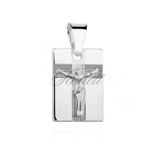 Srebrny diamentowany medalik pr.925 Jezus na krzyżu - GMD106, GMD106