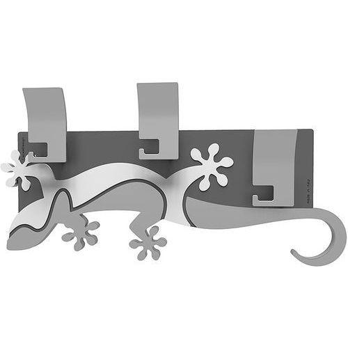 Calleadesign Wieszak ścienny dekoracyjny gecko biały (54-13-2-1)