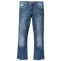 Bonprix Dżinsy ze stretchem regular fit bootcut niebieski