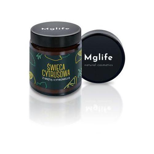 świeca cytrusowa z miętą i cytronellą - rzepakowa marki Mglife