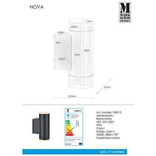 Kinkiet NOVA Wall 2L Black 106913 - Markslojd - Mega rabat w koszyku (7330024568372)