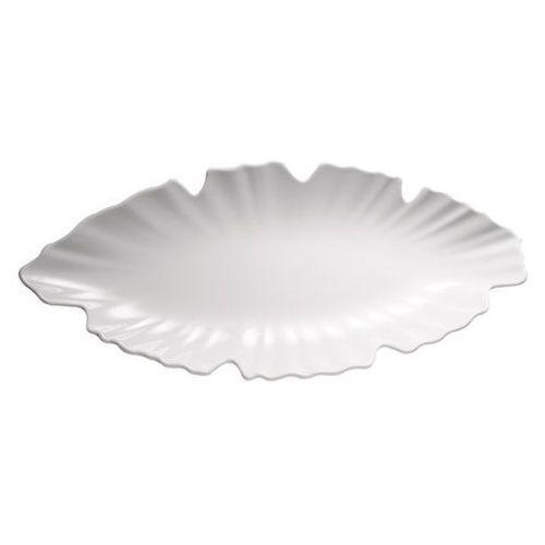 Półmisek z melaminy w kształcie liścia 400x185 mm, biały | APS, Natural Collection