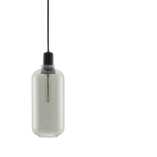 Normann copenhagen Amp - lampa wisząca szkło palone czarny/marmur wys.26cm