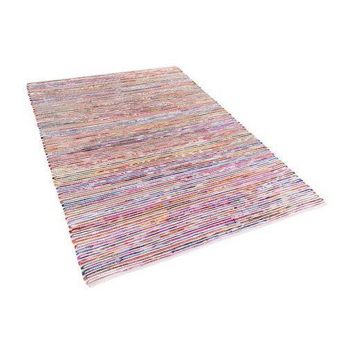 Dywan wielokolorowo-biały bawełniany 140x200 cm bartin marki Beliani