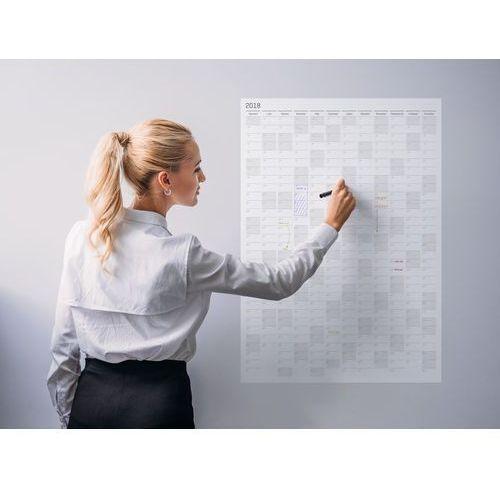Grupavnm.pl Planer kalendarz ścienny 2018 samoprzylepny suchościeralny 70x100 b1