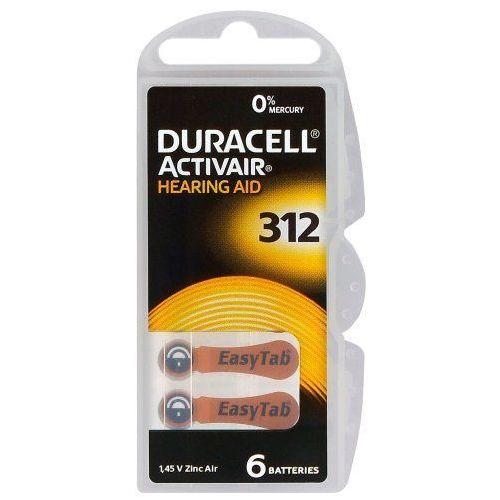Duracell 30 x baterie do aparatów słuchowych activair 312 mf