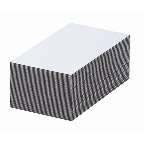Magnetyczna tablica magazynowa, białe, wys. x szer. 70x100 mm, opak. 100 szt. za marki Haas